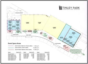 Tinley Park Convention Center Event Space Map