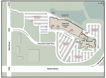 Tinley Park Convention Center Exterior Map